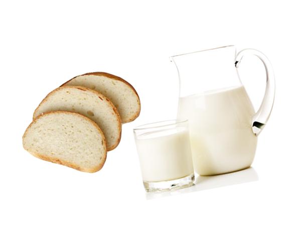 Маска для рук из белого хлеба