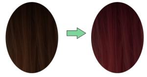 хна на темных волосах