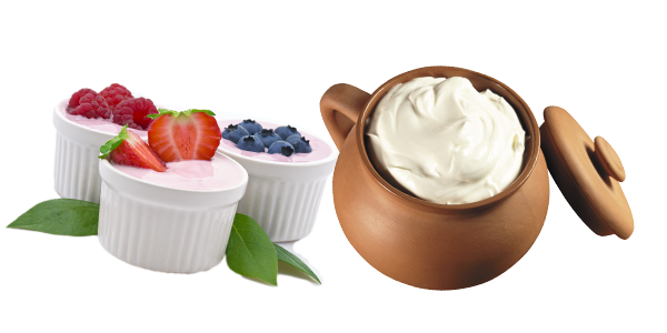 Сметана и йогурт
