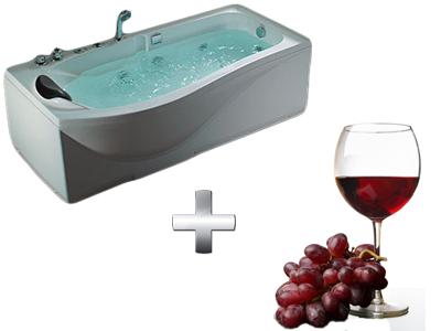 ванна с красным вином