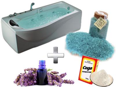 содовая ванна с лавандовым спиртом