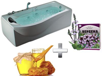 бодрящая ванна с вербеной