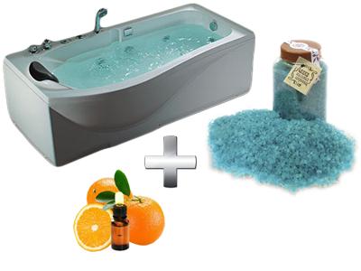 бодрящая ванна с солью и эфирным маслом
