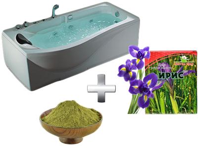бодрящая ванна с хвоей и ирисом