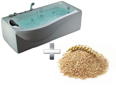 омолаживающая ванна с отрубями