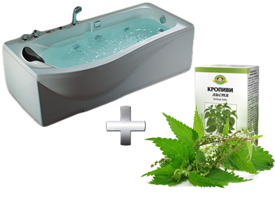 очищающая ванна с кропивой