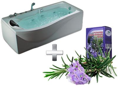 очищающая ванна с розмарином