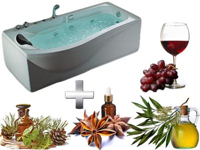 расслабляющая ванна с вином и маслами