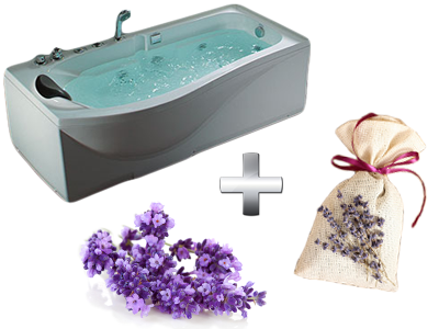 расслабляющая ванна с лавандой