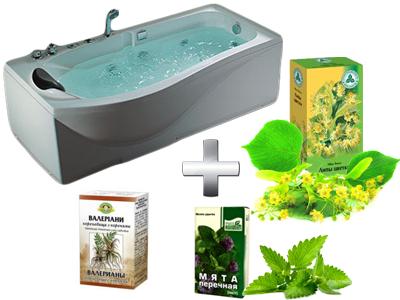 расслабляющая ванна с липой