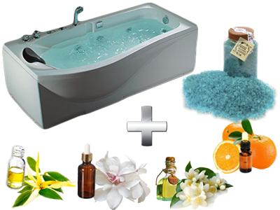 расслабляющая ванна с солью и маслами