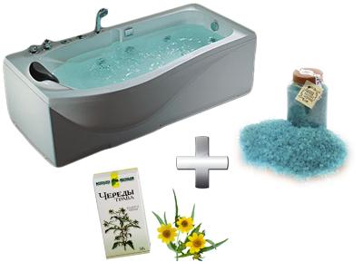 расслабляющая ванна с чередой