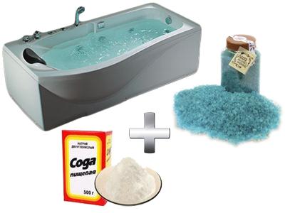 содовая ванна с солью