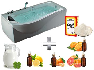 содовая ванна с эфирными маслами