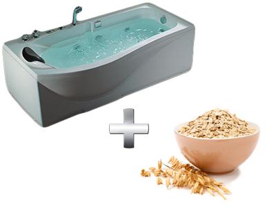 увлажняющая ванна с овсяными хлопьями