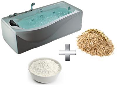 увлажняющая ванна с отрубями