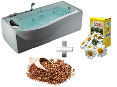 увлажняющая ванна с семенами льна