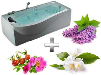 увлажняющая ванна с цветами