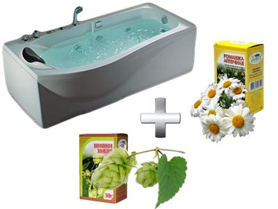 увлажняющая ванна с хмелем